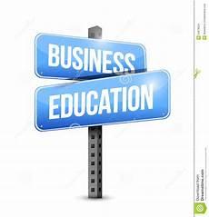 education business business education road sign illustration design stock