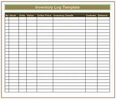Inventory Log Sheet Inventory Log Templates 8 Free Printable Word Excel