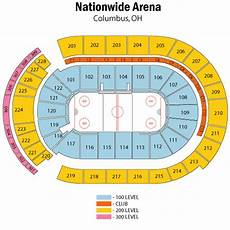 Nationwide Blue Jackets Seating Chart Breakdown Of The Nationwide Arena Seating Chart Columbus