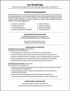 Cna Job Resumes Cna Resume
