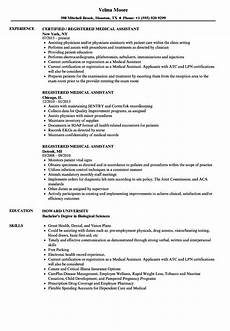 Medical Assistant Job Description For Resume Resume Examples For Medical Assistant Famous Registered