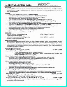 Process Engineering Resumes Successful Objectives In Chemical Engineering Resume