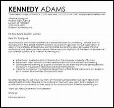 Real Estate Reference Letter Sample Real Estate Assistant Cover Letter Sample Cover Letter