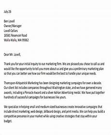 Sample Of Marketing Letters To Business Free 5 Sample Marketing Proposal Letter Templates In Pdf