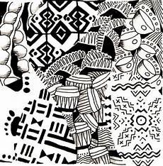 Afrikanische Muster Malvorlagen Xing Coloriage Anti Stress Afrique Tam Tam 3