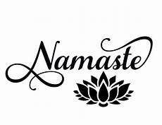 namaste clipart namaste svg lotus flower svg cut files for silhouette
