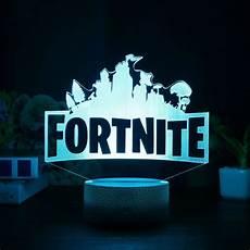 Fortnite Night Light Fortnite Game Series Usb 3d Night Light Led 7 Color
