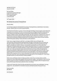 Graduate Covering Letter Examples Example Covering Letter Accountancy