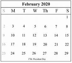 Free Calendar Template February 2020 Free Printable January And February 2020 Calendar Template