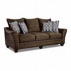 shop kensington faux suede sofa brown grey blue free