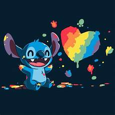 stitches painting paw painting stitch official disney teeturtle
