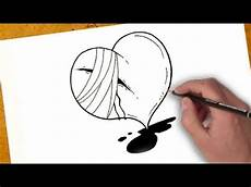 desenho sad كيفية رسم قلب جريح