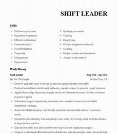 Taco Bell Resume Shift Leader Resume Example Taco Bell Cleburne Texas