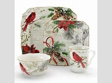 christmas dinnerware sets   222 Fifth Holiday Wishes