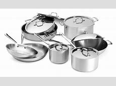 All Clad Master Chef 2 Cookware Set, 14 piece   Cutlery