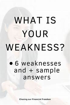 List Of Weaknesses For Interview List Of Weaknesses With Examples For Job Interviews