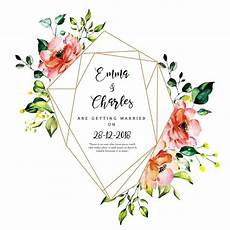 Watercolor Wedding Cards Beautiful Watercolor Floral Wedding Invitation Card
