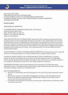 Government Resume Format Federal Resume Samples Resume Place