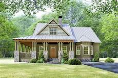 rustic cottage house plan with wraparound porch 70630mk