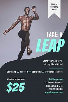 Training Advertisement Template Copy Of Gym Fitness Flyer Postermywall