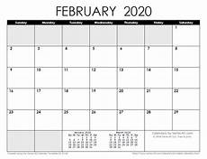 month calendar february 2020 2020 calendar templates and images