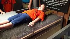 bed of nails at wonderworks 2nd grade field trip