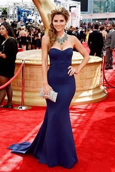 menounos navy mermaid strapless formal dress 2013