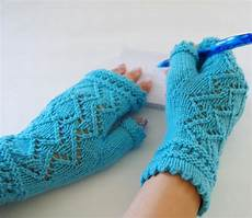 knit fingerless gloves pattern lace of diamonds etsy