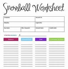 Snowball Worksheet 5 Debt Snowball Excel Templates Excel Xlts