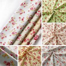 fabric crafts shabby chic floral fabric 100 cotton material vintage shabby
