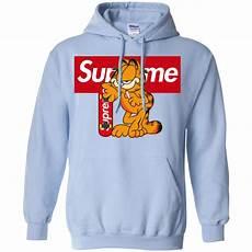 supreme hoodies cat garfield supreme hoodie diystees