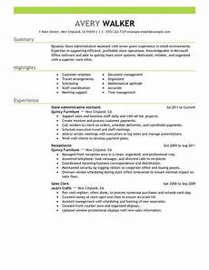 Resume Format For Admin Officer Best Store Administrative Assistant Resume Example From