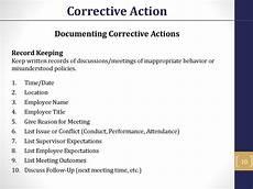 Employee Expectation List Corrective Action Online Presentation