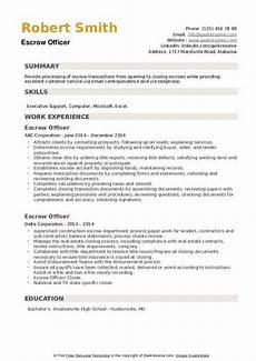 Escrow Officer Resume Escrow Officer Resume Samples Qwikresume