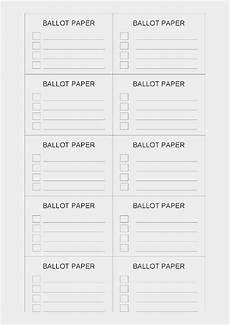Voting Ballot Template For Word Free Collection 57 Election Ballot Template Examples