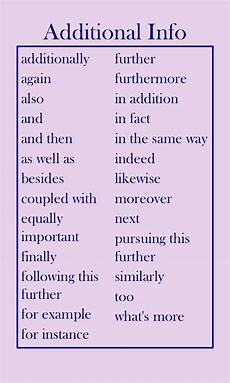 Transitions In An Essay Transition Words Adding Additional Information English