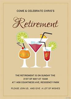 Template For Retirement Party Invitation Printable Retirement Party Invitation Template In Adobe