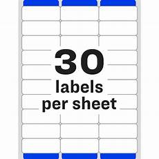 Avery 30 Labels Template Avery 174 Easy Peel Address Labels Sure Feed Permanent