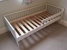 ikea toddler bed with guard rail white