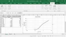 Semilog Graph Paper Excel Semi Log Grain Size Plot In Excel Youtube