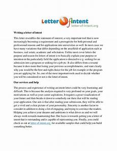 Cover Letter Of Intent Letter Of An Intent Writing Service