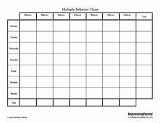 Behavior Chart For Adults Correct Bad Behavior Customizable Behavior Charts Good