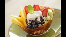 fruit sundae in a spun caramel bowl easter dessert