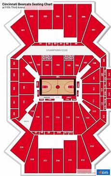 Uc Bearcats Basketball Seating Chart Section 206 At Fifth Third Arena Rateyourseats Com