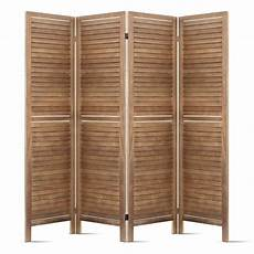 4 panel room divider privacy screen wooden folding wall