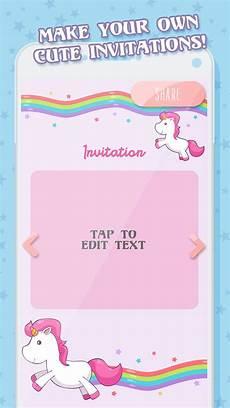 unicorn ulang tahun undangan kartu for android apk download
