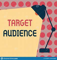 Another Word For Target Audience Conceptual Hand Writing Showing Target Audience Business