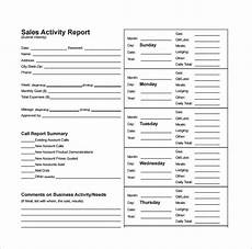 Sales Activity Report Template Excel Free 16 Sales Report Templates In Google Docs Ms Word