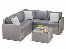 calabria grey rattan 4 sofa set with coffee table