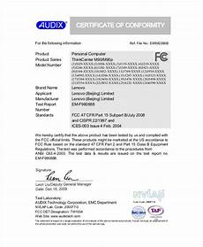 Certificate Of Manufacture Template 13 Conformity Certificate Templates To Download Sample